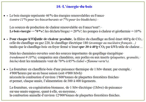 10. energie bois